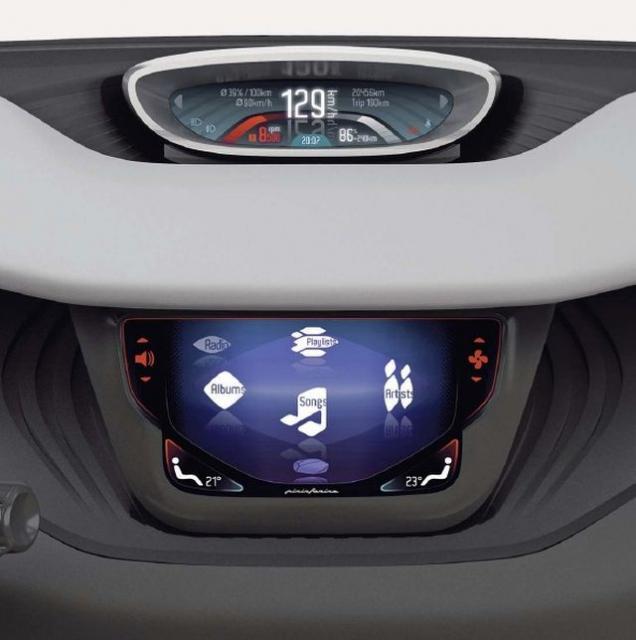 Дисплей Pininfarina BlueCar