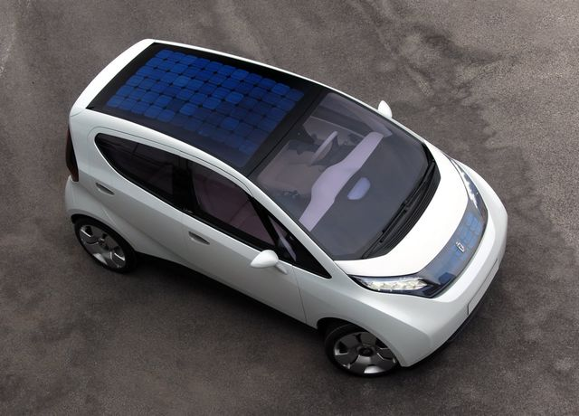 Солнечные батареи Pininfarina BlueCar