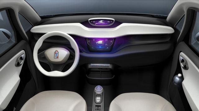 Интерьер Pininfarina BlueCar